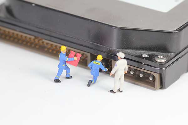 Creative representation of data recovery and repair using software