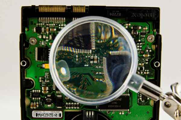 Circuit board of a hard disk drive used for data recovery