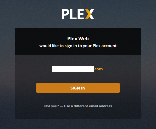 Plex TV Redirect To Web Page