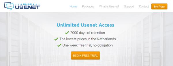 Pure Usenet provider