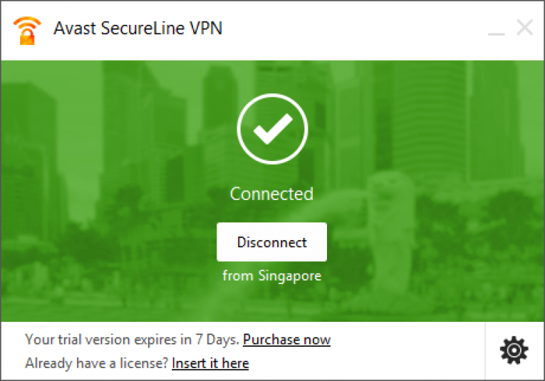 avast secureline interface