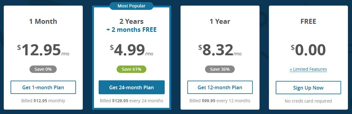 hideme price plan