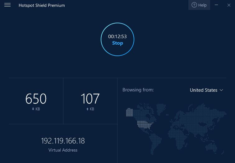 hotspot shield vpn interface