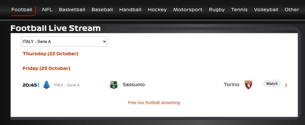 serie a streaming gratis