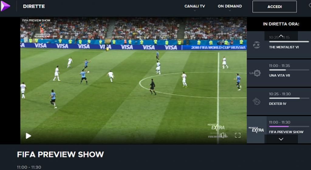 mediasetplay calcio serie a streaming gratis