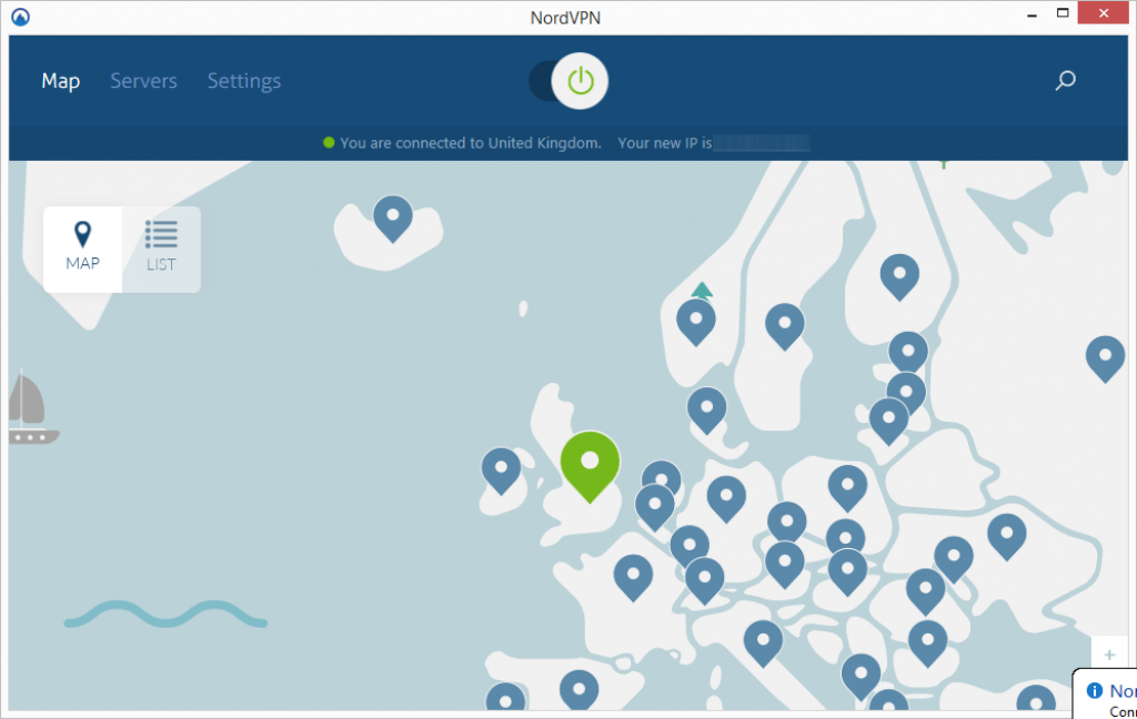 nordvpn connected