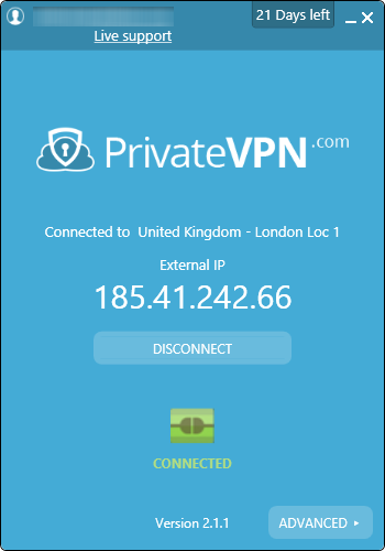 privatevpn connected