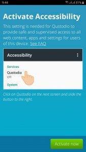qustodio activate accessibility