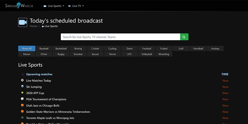 En sağlam spor canlı maç izle me kanallarından biri de Strem2watch.